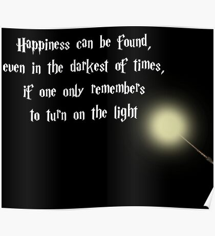 Dumbeldore's Happiness Quote Poster