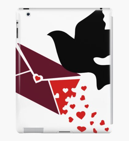 A Carrier Pigeon With A Love Letter- pigeon shirt iPad Case/Skin