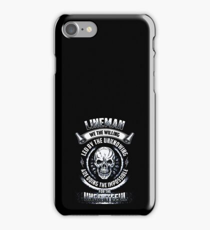 lineman iPhone Case/Skin