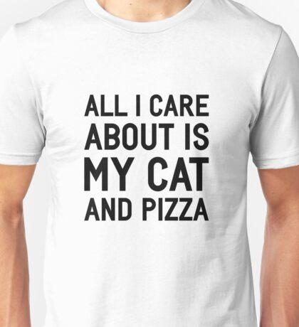 Cat & Pizza Unisex T-Shirt