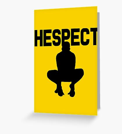 """Anderson Silva """"Hespect"""" Greeting Card"""