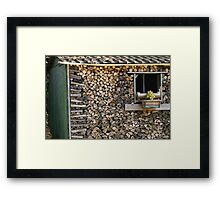 wood in the woodshed Framed Print