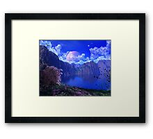 C.E. Beautiful Mountain Art 2 Framed Print