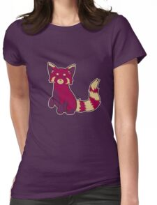 Blueberry Red Panda  Womens Fitted T-Shirt