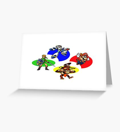 Snes Collections Greeting Card