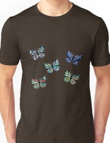 Cute Patterned, Flying Butterflies Pack of 5 Unisex T-Shirt