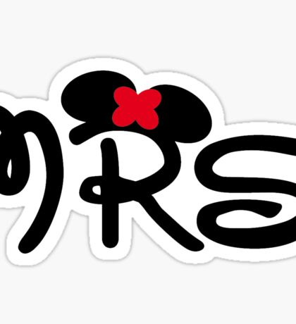 Mrs. Disney Sticker