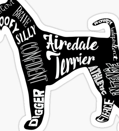 Love an Airedale Sticker