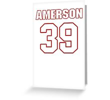 NFL Player David Amerson thirtynine 39 Greeting Card