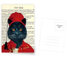 Original Greek Cat Art Print Postcards