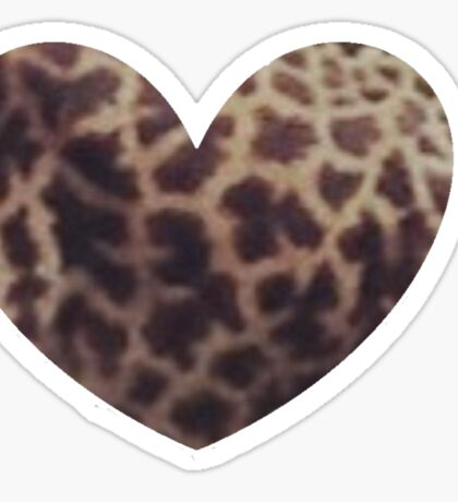 Heart with Giraffe Spots Sticker