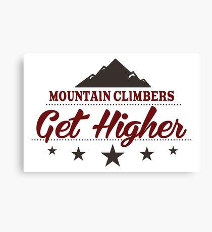 Mountain Climbers Get Higher Canvas Print