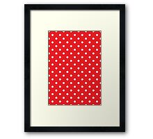 Polkadots Red and White Framed Print