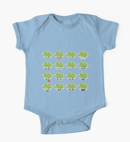 Salad Emoji Different Facial Expression One Piece - Short Sleeve