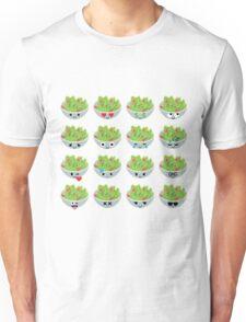Salad Emoji Different Facial Expression Unisex T-Shirt