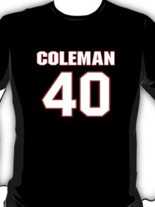 NFL Player Derrick Coleman forty 40 T-Shirt