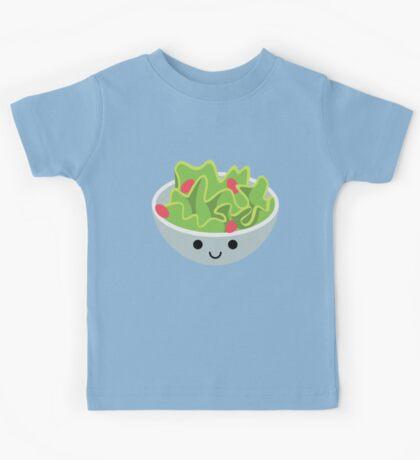 Salad Emoji Happy Smiling Face Kids Tee