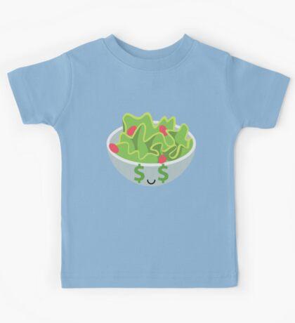 Salad Emoji Money Face Kids Tee