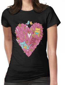 Valentines Cats In Love Womens Fitted T-Shirt