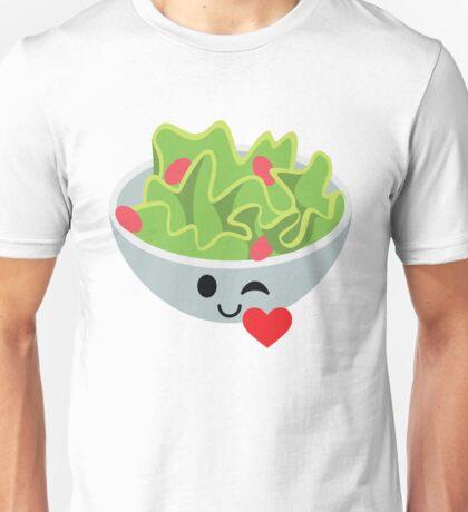 Salad Emoji Flirt and Blow Kiss Unisex T-Shirt