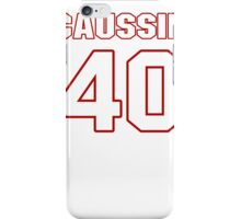 NFL Player Mike Caussin forty 40 iPhone Case/Skin