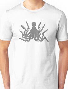 Octopus 8 Knives in GRAY Unisex T-Shirt