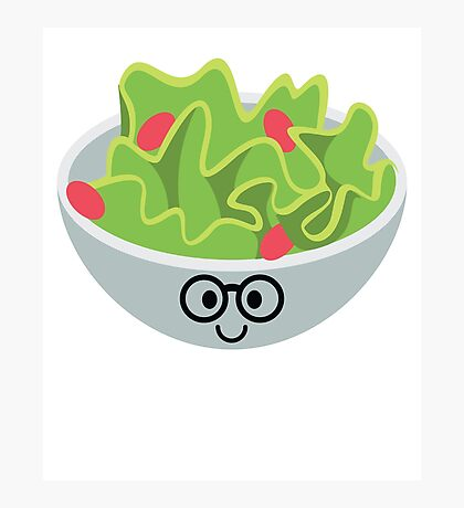 Salad Emoji Nerd Noob Glasses Photographic Print