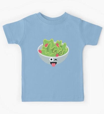 Salad Emoji Wink and Tongue Out Kids Tee
