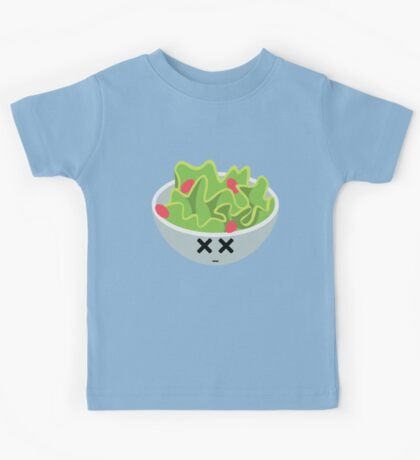 Salad Emoji Faint and Knock Out Kids Tee