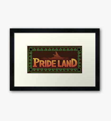 Pride Lands Framed Print