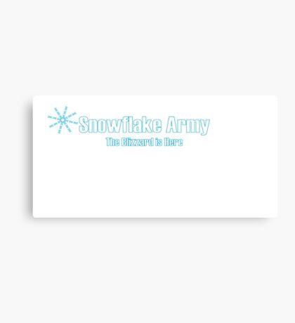 Snowflake Army Canvas Print