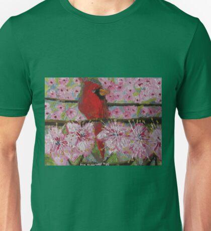 Cardinal in spring Unisex T-Shirt