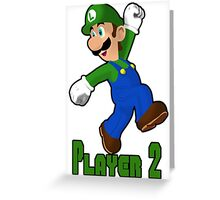 Luigi Player Two Greeting Card