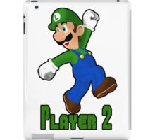 Luigi Player Two iPad Case/Skin