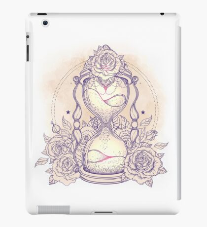 Hourglass and Roses iPad Case/Skin