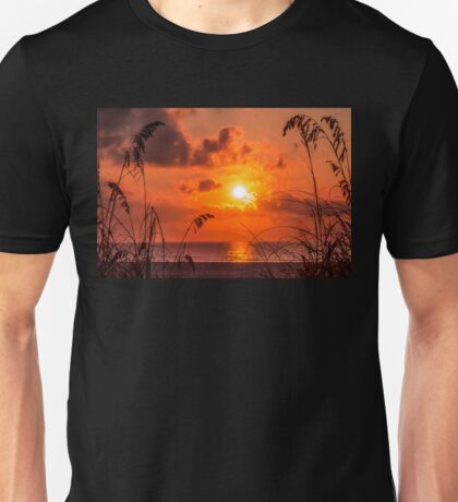 Grass Silhouettes At Sunrise Unisex T-Shirt