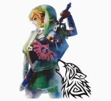 Zelda Link with Wolf by AnimeLord