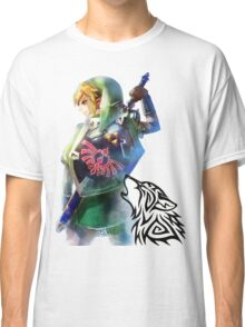 Zelda Link with Wolf Classic T-Shirt