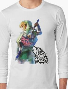Zelda Link with Wolf Long Sleeve T-Shirt