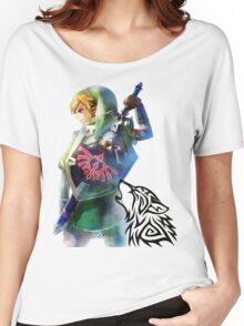 Zelda Link with Wolf Women's Relaxed Fit T-Shirt