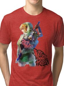 Zelda Link with Wolf Tri-blend T-Shirt