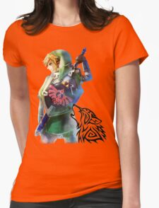 Zelda Link with Wolf Womens Fitted T-Shirt