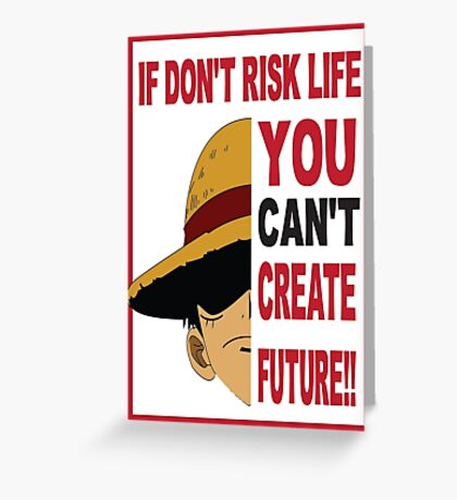 anime - luffy Greeting Card