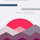 Abstract minimalistic landscape sunset by Lautstarke