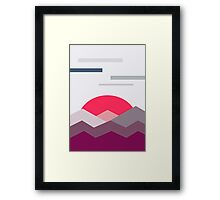 Abstract minimalistic landscape sunset Framed Print