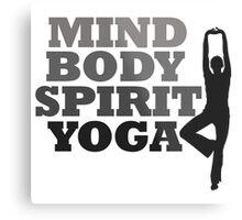 mind body spirit yoga Metal Print