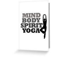 mind body spirit yoga Greeting Card