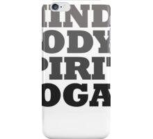 mind body spirit yoga iPhone Case/Skin