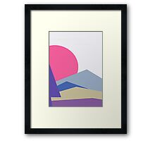 Abstract minimalistic landscape nature Framed Print