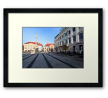 City square Framed Print